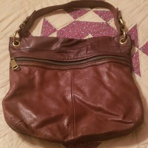 Fossil Brown leather handbag